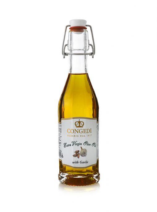 Olio extra vergine di oliva aromatizzato all'aglio 0,25 l