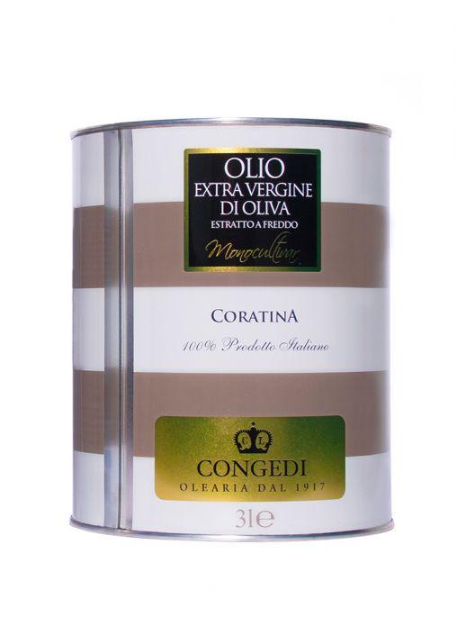 Olio extra vergine di oliva - Monocultivar 3 l - Coratina