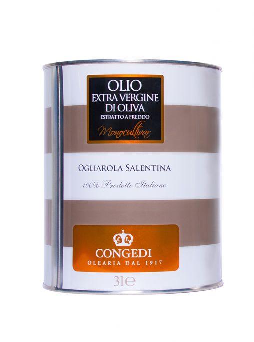 Olio extra vergine di oliva - Monocultivar - Ogliarola-3 l