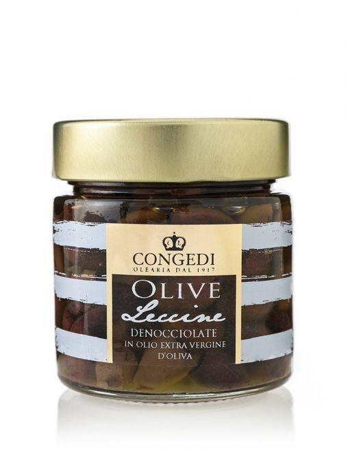 Olive Leccine Denocciolate in Olio Extra Vergine di Oliva