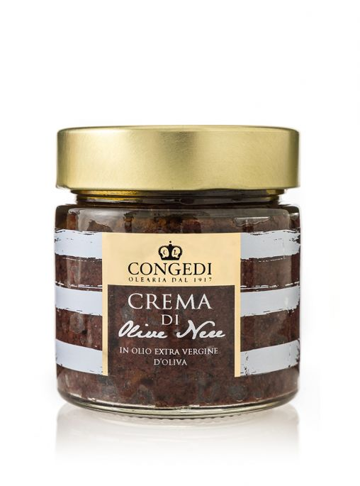Crema di Olive Nere in Olio Extra Vergine di Oliva